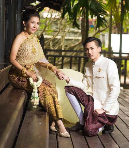 Ảnh cưới củaJutathip và Pakhin. Ảnh: Facebook.