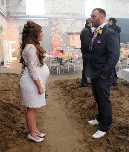 Bianca và chồng khi làm đám cưới. Ảnh: The Sun.