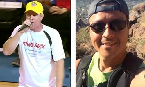 Keith King (áo trắng) đã nhận được 8,8 triệu đôla bồi thường từ tình địch làFrancisco Huizar (phải).