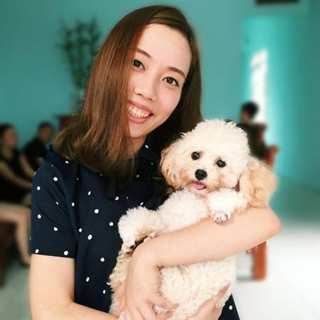 Vì tình cảm với chú cún cưng, Hoài Anh sẵn sàng chi 20 triệu để chuộc, may mắn cô thương lượng đón được nó khi trả 15 triệu. Ảnh: NVCC.