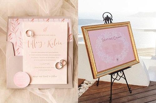 Nên chọn đầm dáng dài màu hồng cho các phù dâu.