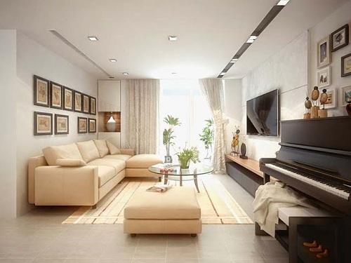 Gam màu trung tính giúp nới rộng diện tích căn phòng.