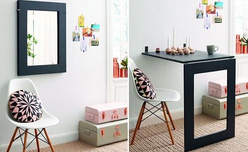 Bàn gấp gọn là mẫu nội thất đáng chú ý cho căn hộ diện tích nhỏ.