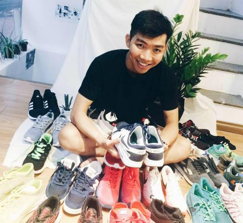 Nguyễn Trọng Nghĩa đã khởi nghiệp từ chính đam mê giày của mình. Ảnh: NVCC.