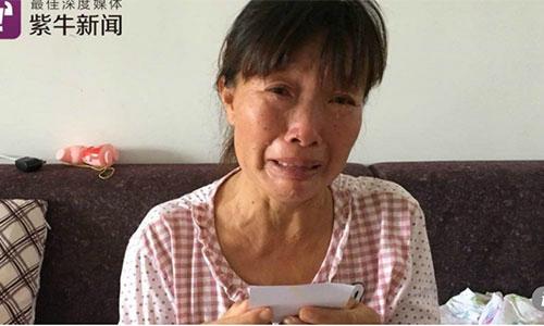 BàLiu Xinu chỉ mong chờ đến ngày được gặp con trong lúc đang điều trị ung thư tại Thượng Hải. Ảnh: Scmp.
