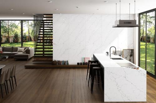 Mặt bàn bếp là một trong những hạng mục quan trọng trong thiết kế nhà. Ảnh:Vicostone.