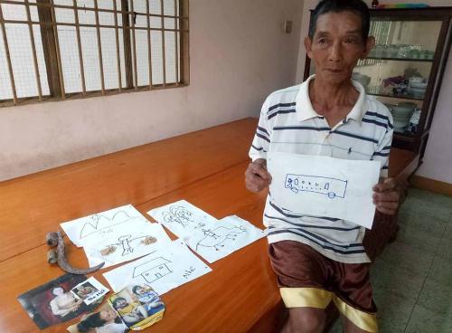 Ông Câm đi lạc hơn 14 năm tìm gia đình bằng các hình vẽ tay