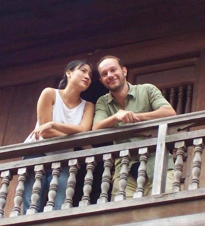 Chị Đặng Tố Nga và chồng người Italy hơn chị 7 tuổi. Ảnh: NVCC.