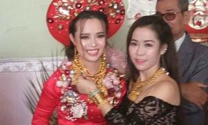 Cô dâu Kiên Giang đeo 129 cây vàng được tặng vào ngày cưới