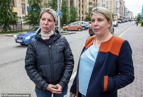 Ksenia và Uliyana (từ trái qua). Ảnh: NTV.