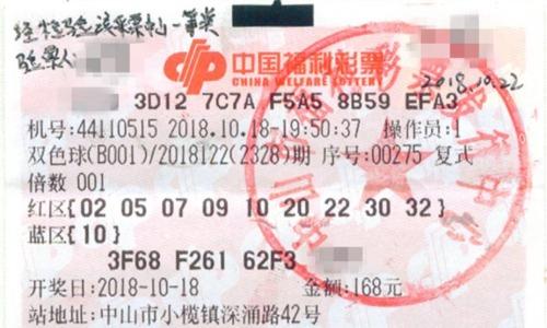 Tấm vé trúng giải của ông Trần tặng con gái. Ảnh: Sina.