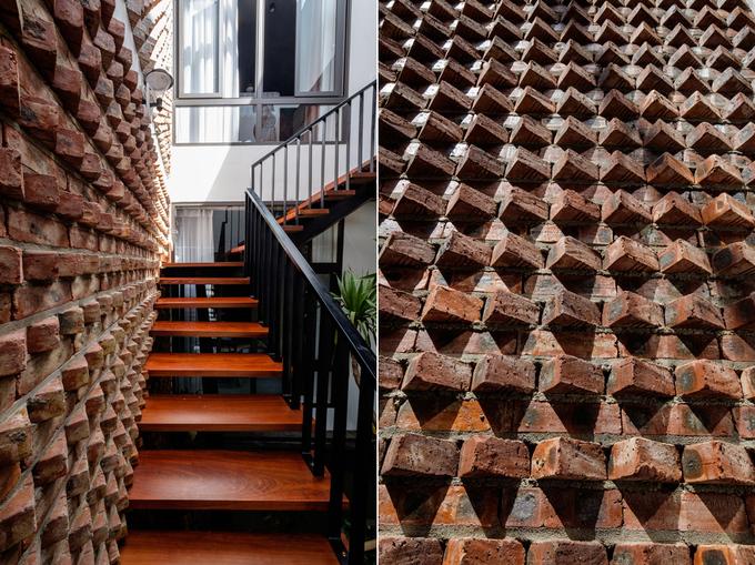 Bức tường 'gai nhím' trong ngôi nhà Quảng Bình