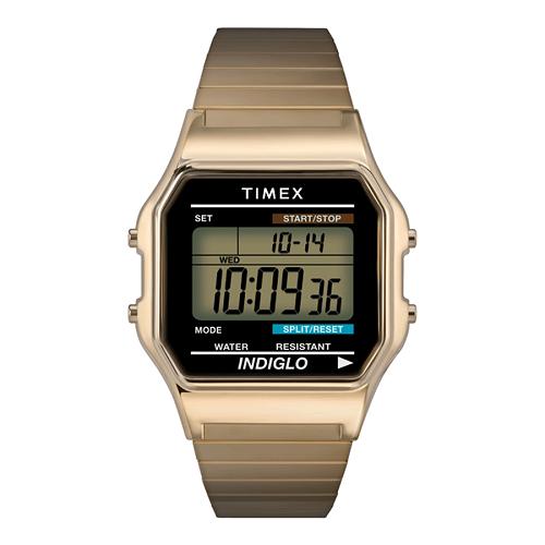Đồng hồ Timex Classic Digital Gold  giá gốc 1,95 triệu đồng giảm 50% chỉ còn 975.000 đồng  Đồng hồ Timex thương hiệu Mỹ ra đời vào năm 1854  Được mệnh danh là đồng hồ Thụy Sỹ của Mỹ, đồng hồ Timex gây ấn tượng mạnh với tính năng đèn nền INDIGLO và thiết kế đơn giản nhưng thanh lịch, sang trọng.  Ngoài ra, đồng hồ Timex còn ghi điểm với các tín đồ thời trang bởi chất liệu cao cấp và độ bền tối ưu nhờ được chế tác theo công nghệ được sử dụng trong quân đội Mỹ.
