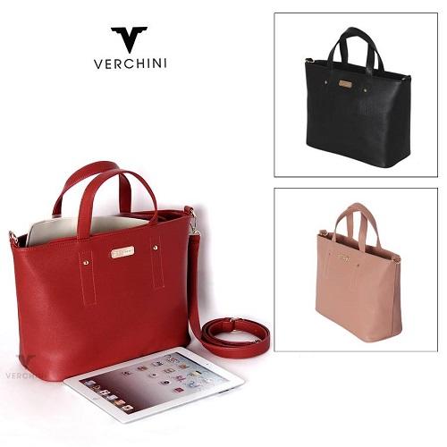 Túi xách Verchini: Sản phẩm được làm từ chất liệu da, da tổng hợp mới bền nên có chất lượng đồng đều và ổn định.