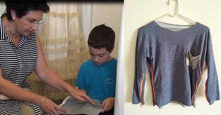 Chiếc áo có thể tăng giảm 4 size từ ý tưởng của cậu bé Yair.
