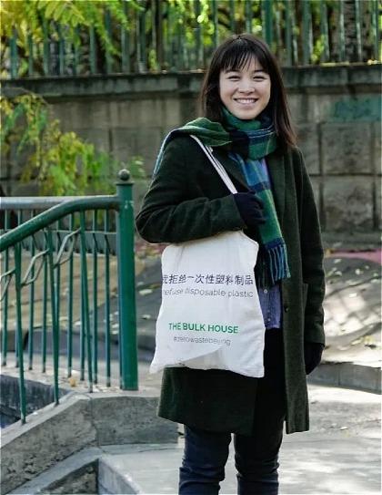 Yu Yuan dùng túi vải để mua mọi thứ, chứ không dùng các túi nilon hay bao gói khác. Ảnh:wenxuecity.