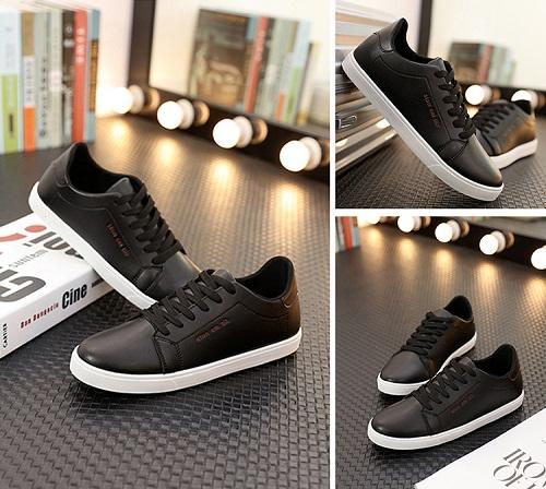 Giày casual nam Rozalo RM5638 nam kiểu dây buộc - Đen: chỉ còn 89.000 đồng.Giày có chất liệu cao cấp, mũi giày bo tròn, đế bằng cao su tổng hợp có xẻ rảnh giúp chống trơn.