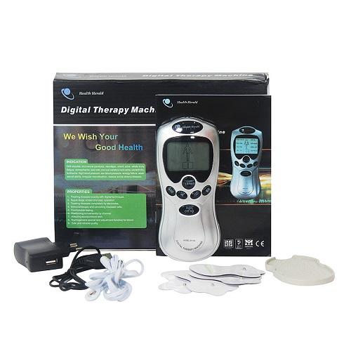 Máy massage trị liệu 4 miếng dán TDS Health Herald: 99.000 đồng. Máy có thiết kế nhỏ gọn, cơ động giúp bạn massage hàng ngày tạo cảm giác thư thái, thoải mái và hỗ trợ trị liệu một số căn bệnh về xương khớp thông thường.