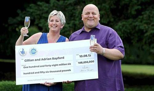 Adrian và vợ cũ khi nhận giải đặc biệt. Ảnh: The Sun.