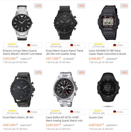 Tại Amazon Đức, đồng hồ có mức giảm giá đến 50% thuộc các thương hiệu: Varta, Genossen, TFA, Dostmann, Arman&