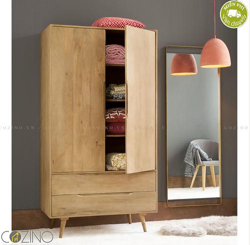 Tủ quần áo Trocadero gỗ tự nhiên - COZINO
