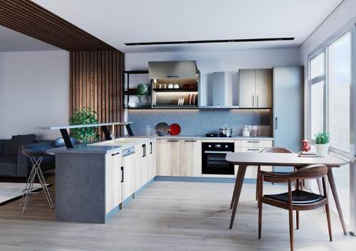 Tủ bếp module, xu hướng bếp hiện đạiáp dụng trong các thiết kế gian bếp.