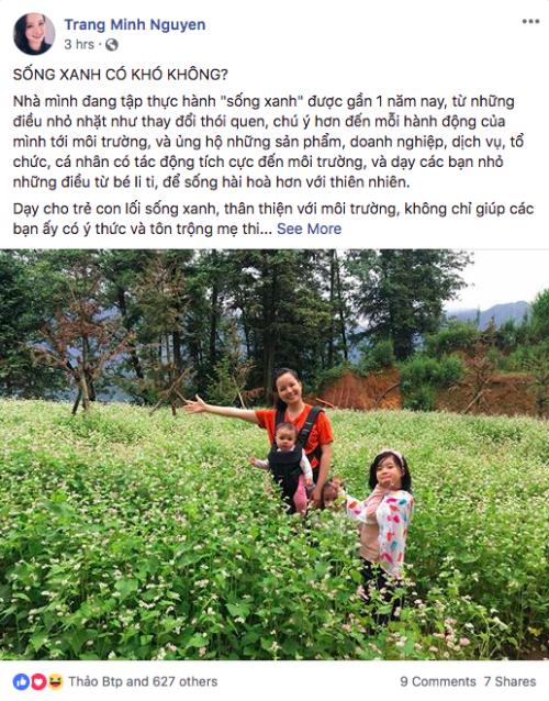 Chia sẻ của Trang Moon trên trang cá nhân.