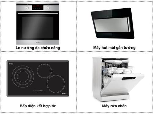Hafele - thương hiệu  nội thất sản xuất thiết bị bếp có nhiều chức năng phục vụ cho người nội trợ.