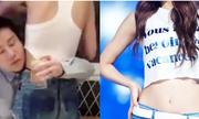 Thử thách ôm eo bạn gái uống nước của các chàng trai Trung Quốc