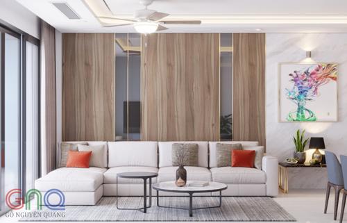Một không gian thiết kế phong cách Gỗ Nguyên Quang.