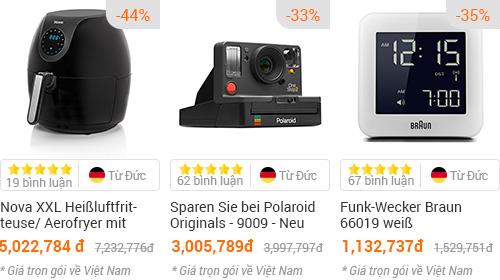Một số sản phẩm đang được giảm giá trên Amazon Đức.