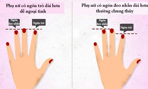 Muốn biết người phụ nữ có dễ ngoại tình, hãy xem ngón trỏ