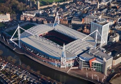 Sân vận động Thiên Niên Kỷ (xứ Wales) từng phải mời thầy phong thuỷ về điều chỉnh phòng thay đồ được cho là không may mắn. Ảnh: The 18.