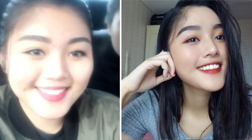 Quỳnh Như trước và sau khi giảm cân. Ảnh: Q.N