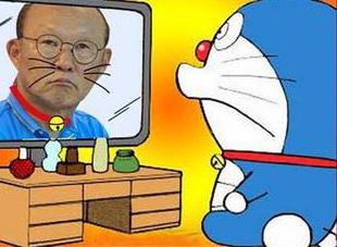 HLV Park Hang-seo từng được cư dân mạng so sánh với chú mèo máy Doraemon.