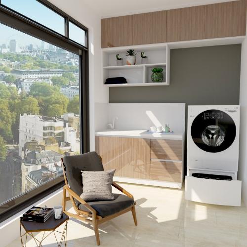 LG TWINWash với thiết kế hai lồng giặt riêng biệt.