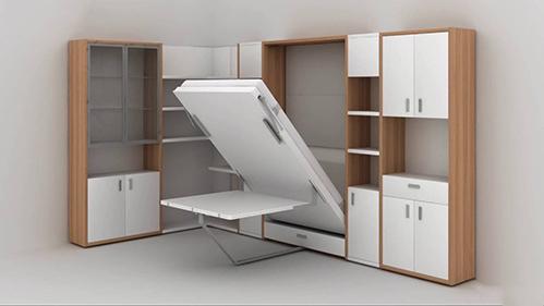Nội thất thông minh, tủ - giường - bàn ba trong một. Ảnh: Amazing Tech.