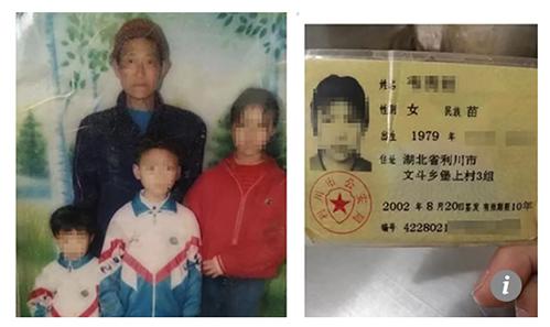 Bức hình cũ và chứng minh thư đã giúp Wei tìm thấy gia đình sau 15 năm thất lạc. Ảnh: SCMP.