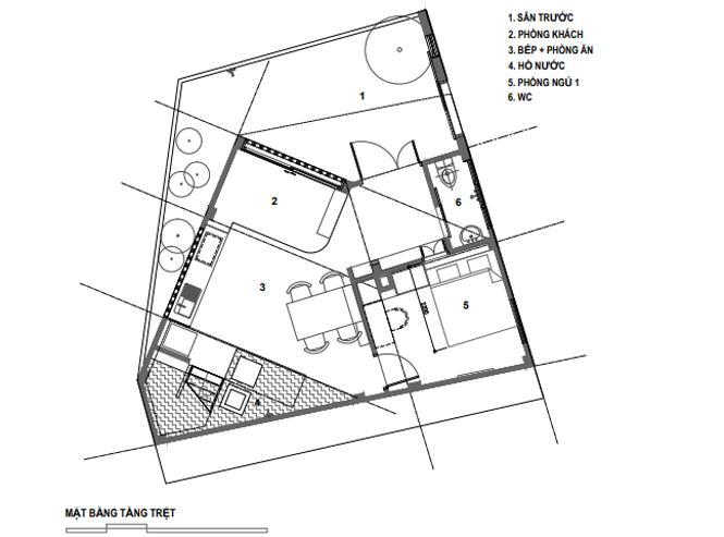 Lời giải cho mảnh đất ngũ giác khiến chủ nhà đồng ý thi công ngay