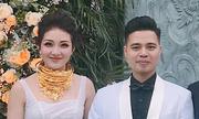 Cô dâu Nam Định đeo vàng kín cổ trong ngày cưới