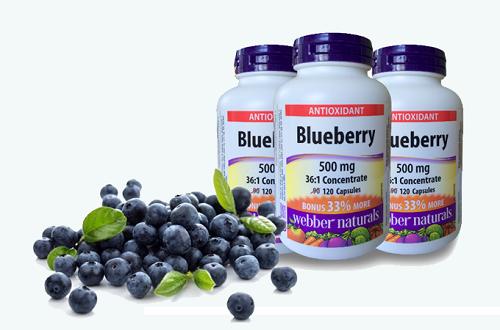 Chống lão hóa, bổ mắt với Blueberry có xuất xứ từ Canada giảm còn 514.000 đồng. Với người làm việc nhiều trên máy tính, người già hoặc trẻ em, Blueberry 500mg là lựa chọn phù hợp hỗ trợ thị giác.