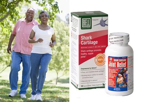 Sụn cá mập Bell Shark Cartilage: giảm còn 370.500 đồng một hộp 100 viên. Sản phẩm bổ sung canxi góp phần hỗ trợ xương chắc khỏe, bảo vệ màng sụn khớp...