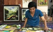 7 phút xoa tay trên kính, họa sĩ Sài Gòn thu về 145 triệu đồng