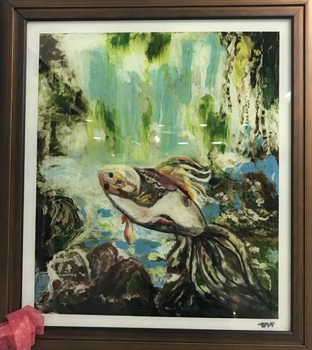 Những bức tranh trong triển lãm diễn ra đầu tháng 1 vừa qua của họa sĩ Đoàn Việt Tiến đã được khách hàng mua hết. Ảnh: Kim Anh.
