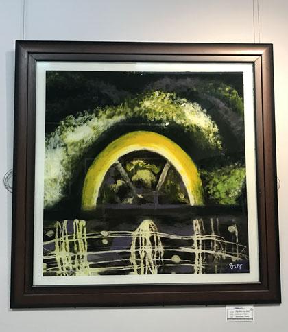 Một bức tranh tại triển lãm của họa sĩ Tiến.