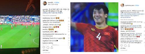 Hashtag về HLV Park Hang-seo và đội tuyển Việt Nam được nhiều người dùng mạng Hàn Quốc chia sẻ.