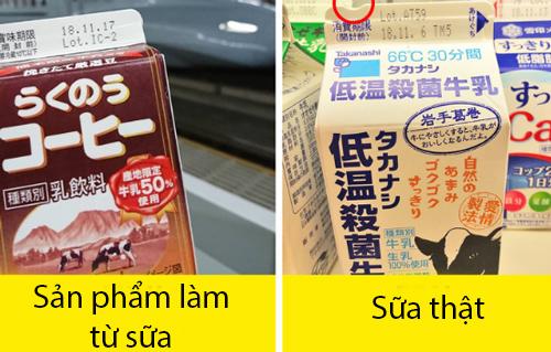 2. Vết lõm nhỏ trên hộp sữa:Bao bì này đươc thiết kế đặc biệt dành cho trẻ em, người khiếm thị và người mù chữ. Phần lõm trên hộp giúp họ phân biệt sữa thật với các sản phẩm từ sữa.