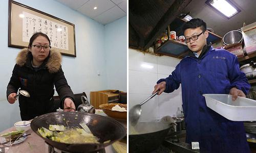 Hai vợ chồng đã kết hôn 7 năm và Jiafeng vẫn luôn ở bên vợ suốt ngày. Ảnh: Pear video.