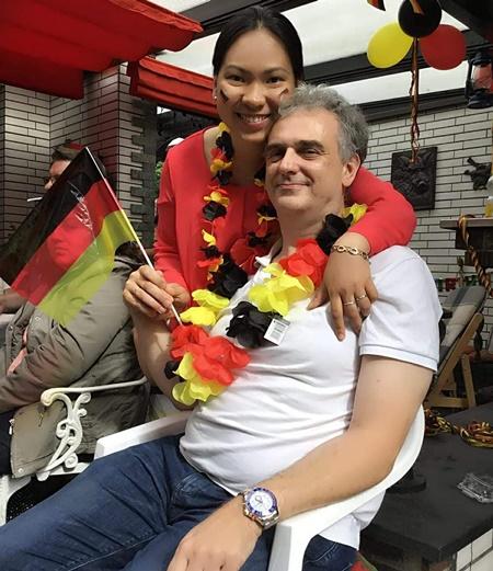 Chị Duyên và anh Andreas quen nhau trong bữa tiệc một người bạn. Ảnh: D.P.