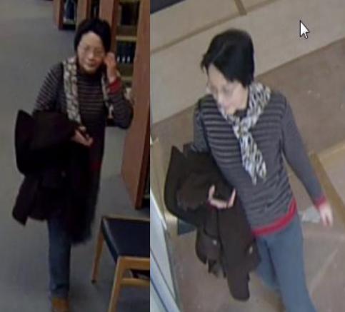 Hình ảnh người mẹ đi quanh các tòa nhà của trường đại họcTowson, tìm bạn gái cho con trai.